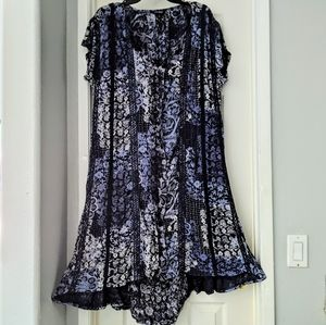 LUCKY BRAND Floral Hi Lo Shift Dress